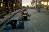 Sunrise Bicycle Crunches
